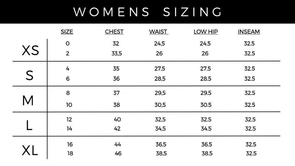 ALL MEASUREMENTS ARE ACCURATE | FOR QUESTIONS REGARDING SIZING, CONTACT   MODE@VONSORELLA.COM  .