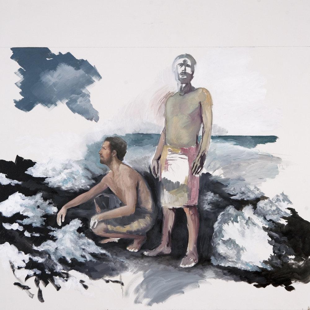The Survey I, 2015, oil on canvas, 100x100.