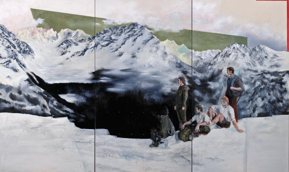 Campo base, 2012, oil on canvas, 180x300 (private collection).