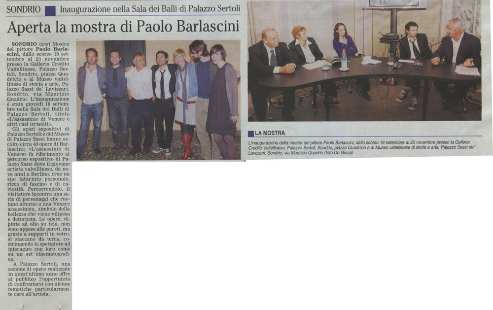 """""""l´assassinio di venere.."""", settembre 2008, with fernando gianesini and rino bertini."""