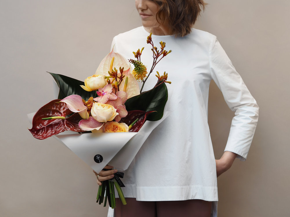 No. 3 - This bouquet is made from a mix of premium large Roses in a variety of colours, Anthurium and Anigozanthos.
