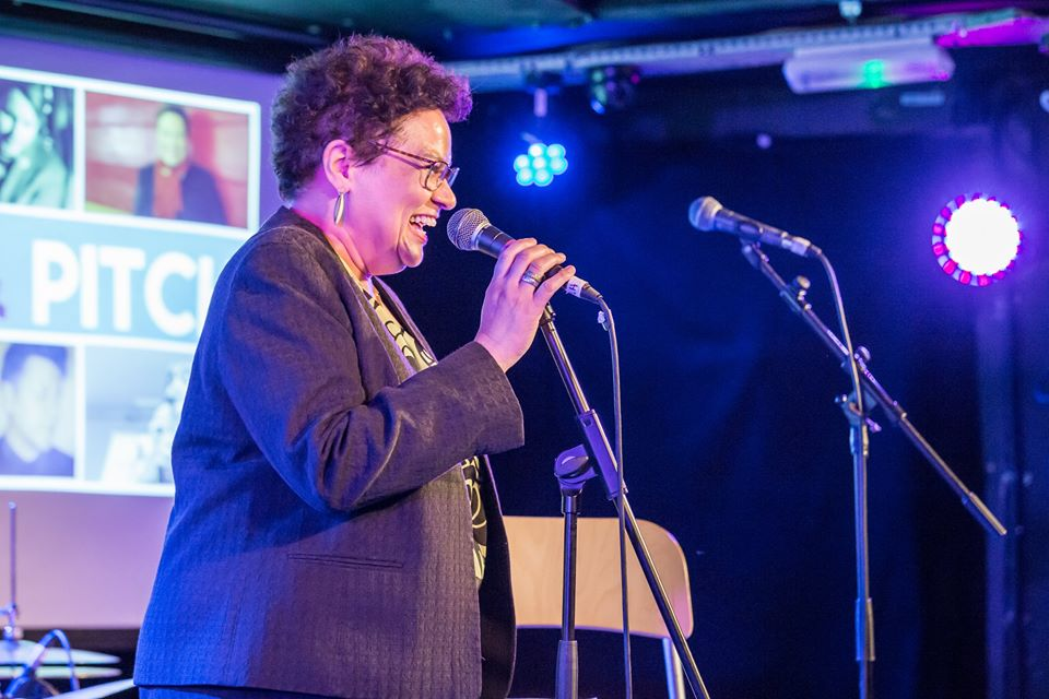 Jackie Kay at The Flint & Pitch Revue, April 2017