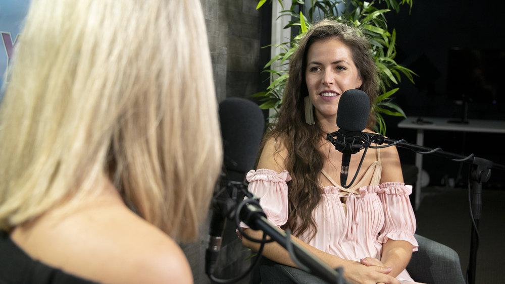 Marian Mellen talking with host, Ashley Law