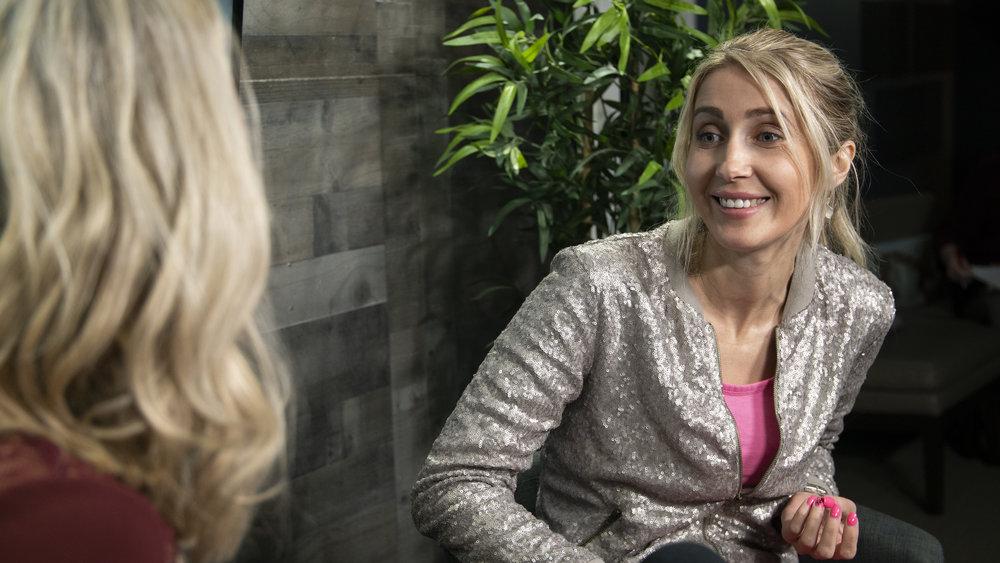 Olenka Cullinan talking with host, Ashley Law