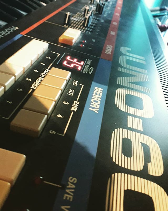 New old friend @roland_us juno 60. #synthesizer. Sounding glorious :)