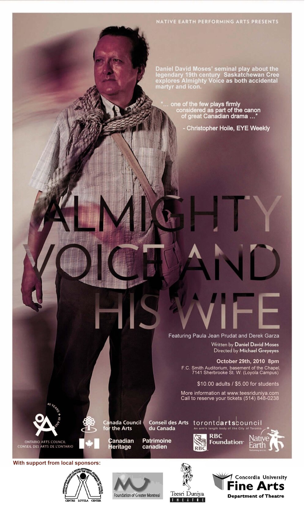 Almighty Voice and His Wife - 2010