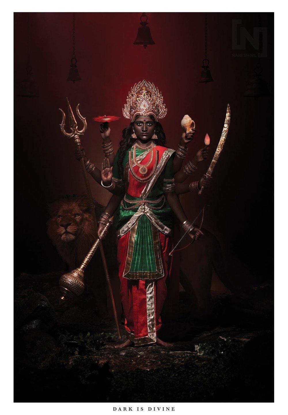Image of the goddess Durga by Naresh Nil.