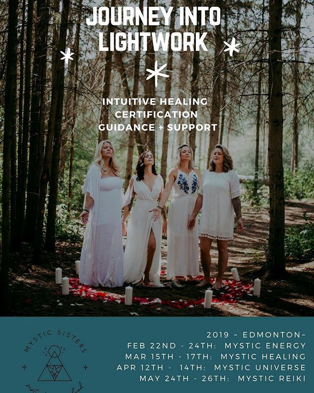 ✧ So many of our wonderful friends have been waiting for this launch and we are so close! ✧ Our website will be live shortly but in the meantime, save the dates for this unique lightworking course offered once a year in Edmonton. ✧ If you're interested in your Reiki Level 1, 2 and Masters, subtle energy, chakra clearing, the healing potential of crystals and grids, ancestral lineage and reading akashic records, shamanic healing, astrology, moon cycles and much much more, you won't want to miss this supportive and guided training! ✧ We're only taking a limited number of students
