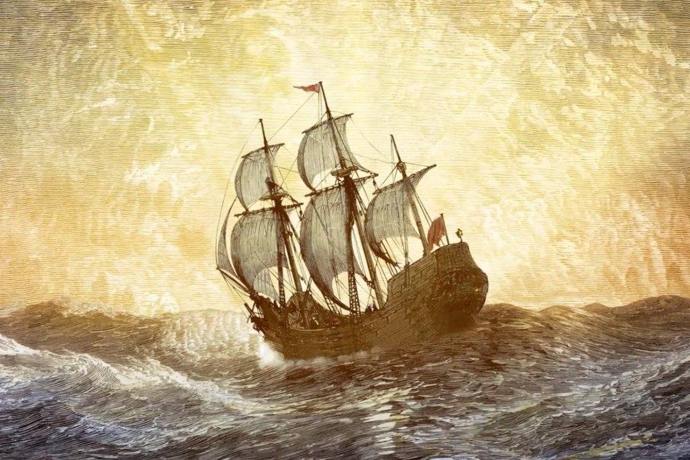 ...and the Mayflower was on its way to the New World.