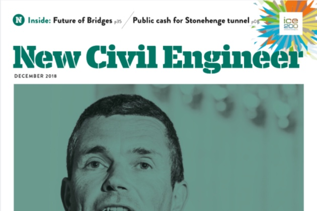 NEW CIVIL ENGINEER MAGAZINE ARTICLE - 14 Nov 2018ICE SW Director Miranda Housden's Viewpoint article featured in the December issue of New Civil Engineer magazine. On stands from 14 November, it provides a great insight into how and why we choose film to showcase civil engineering innovations and build closer links to the community.Read the full article online (for ICE members) and download here.