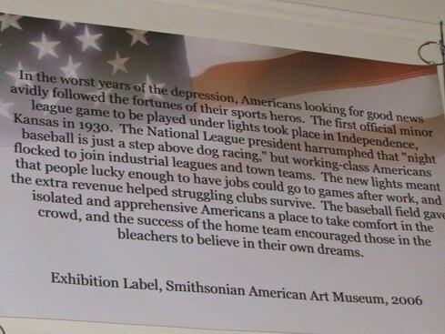 Baseball Room - As seen in this photo, the significance of Independence baseball history is recognized by the Smithsonian. Visit the Baseball Room to discover more, including Mickey Mantle as an Independence Yankee.
