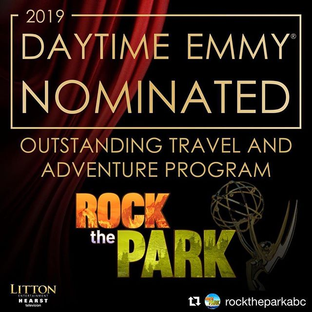 #Repost @rocktheparkabc w #RockThePark is thrilled to announce our 46th Annual @DaytimeEmmys Awards nomination! A huge thank you to all of our dedicated crew members & supportive fans. #emmys #daytimeemmys #daytimeemmys2019 #emmynominated #emmynom