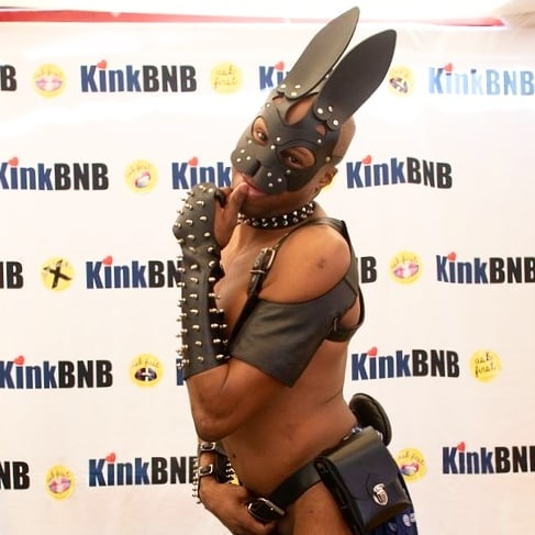 Good morning from this dreamy leather bunny 🌻 See the full uncropped hop image in our photo booth on askfirstcampaign.org (link in bio)