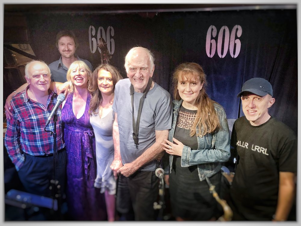 Duncan Lamont's birthday gig at the 606 Jazz Club (July 2018) - with Simon Wallace (piano), Andy Hamill (bass), Tina May & Esther Bennett (voice), Duncan Lamont (sax), Daniela Clynes and Steve Taylor (drums)