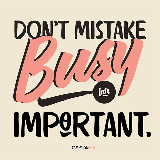 An important reminder this Tuesday. Evaluate the work we're doing. . . Just because you've got a lot on your plate doesn't mean it's all stuff you should do. Just because your schedule is packed, doesn't mean you're spending time on the things that matter most. . . Don't confuse rest with being unproductive. Don't confuse busy for important. Slow down for a hot second. Rest is a privilege, not a weakness.