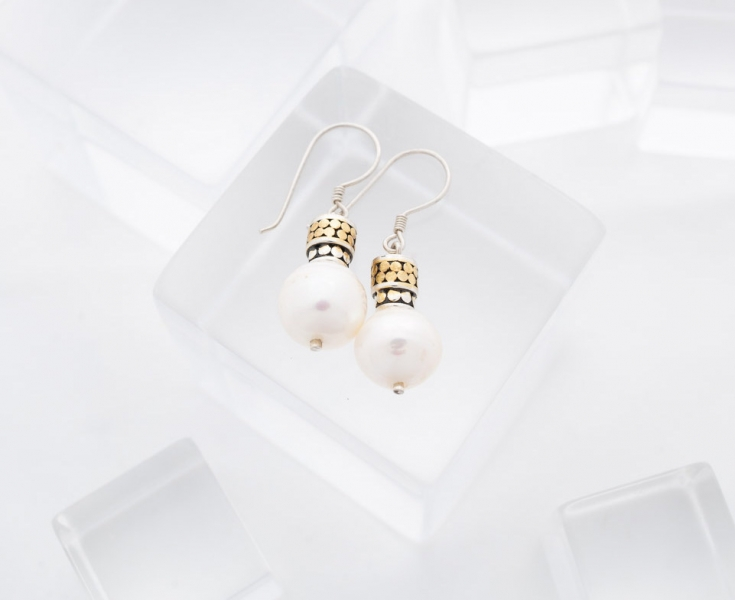 You may also like - Kathy Kamei Medium Pearl Earrings