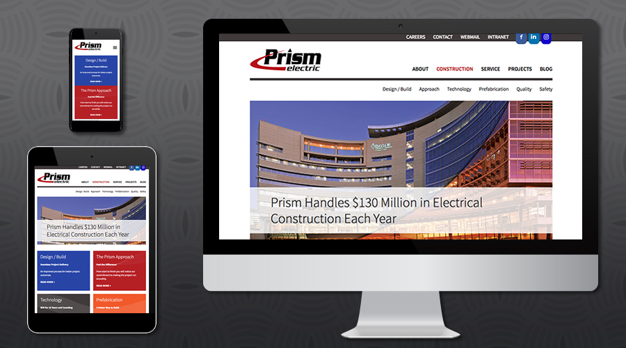 www.prismelectric.com   Services Website for a large electrical contracting firm based in Dallas, Texas. The site was built in Wordpress in a very modular fashion, allowing the client to easily drag and drop content and customize page templates whenever necessary. Packed with useful content and colorful infographics throughout, the site features an expansive projects section showcasing the breadth of their capabilities. The site also includes a robust blog, job opportunities/application and service scheduling tool.
