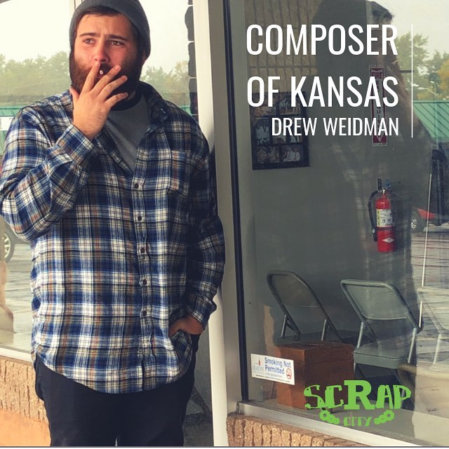 @drew.weidman.music.official - The Composer of Kansas.  Drew makes music by engaging the everyday sounds that most of us ignore. It's like if the Midwest was your parent, cuddling you to sleep while they gently hummed in your ear while occasionally grinding their teeth like broken glass because too much ambien was taken in order to tolerate your existence.  We all know the feeling.  Watch the video. Listen to Drew's Music. Support Drew.  Link in the Bio 😘  #Midwest #Kansas #OlatheKansas #KCMO #KU #ScrapCity #Composer #Music #FringeClass #Culture #Art #Symphonic #SoundCollage #Album #Story #StoryTelling #humaninterest