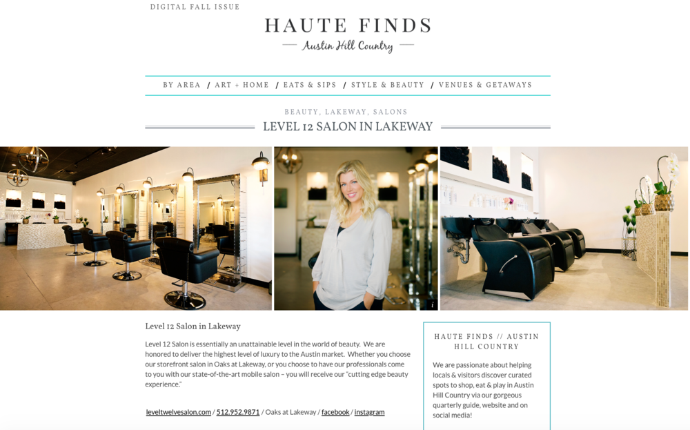 Haute Finds Feature - Level 12 Salon