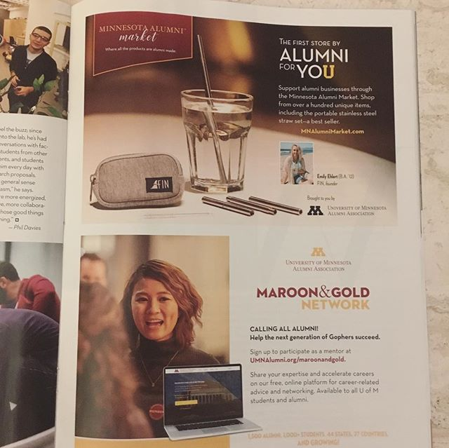 Thanks to the @universityofminnesota #AlumniMagazine for putting us in your most recent issue!!! #thefinalstrawcrusade #nomoreplastic #savetheoceans 🌊