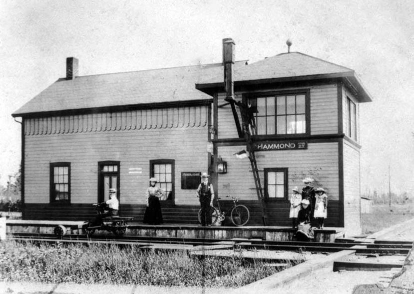 The Hammond Train Station, 1898