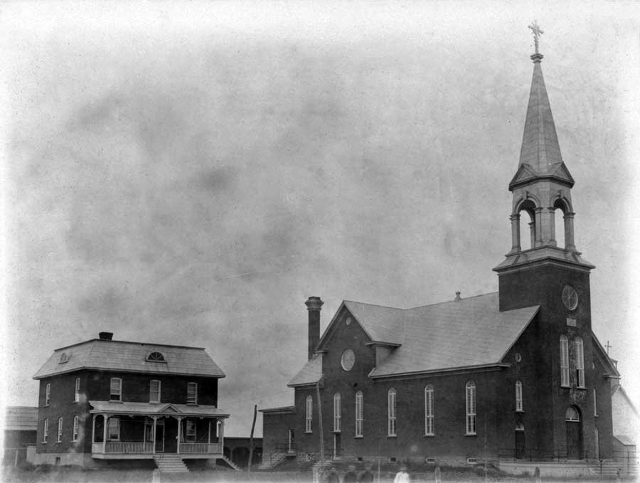 The new church and presbytery, 1912