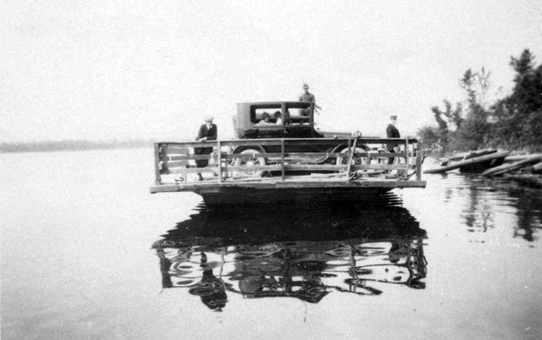 Mr. Dallaire's first ferry, 1925