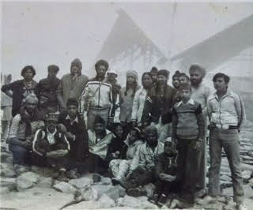 Journalists accompanying KCand Sudha in Bomdila, c. 1962