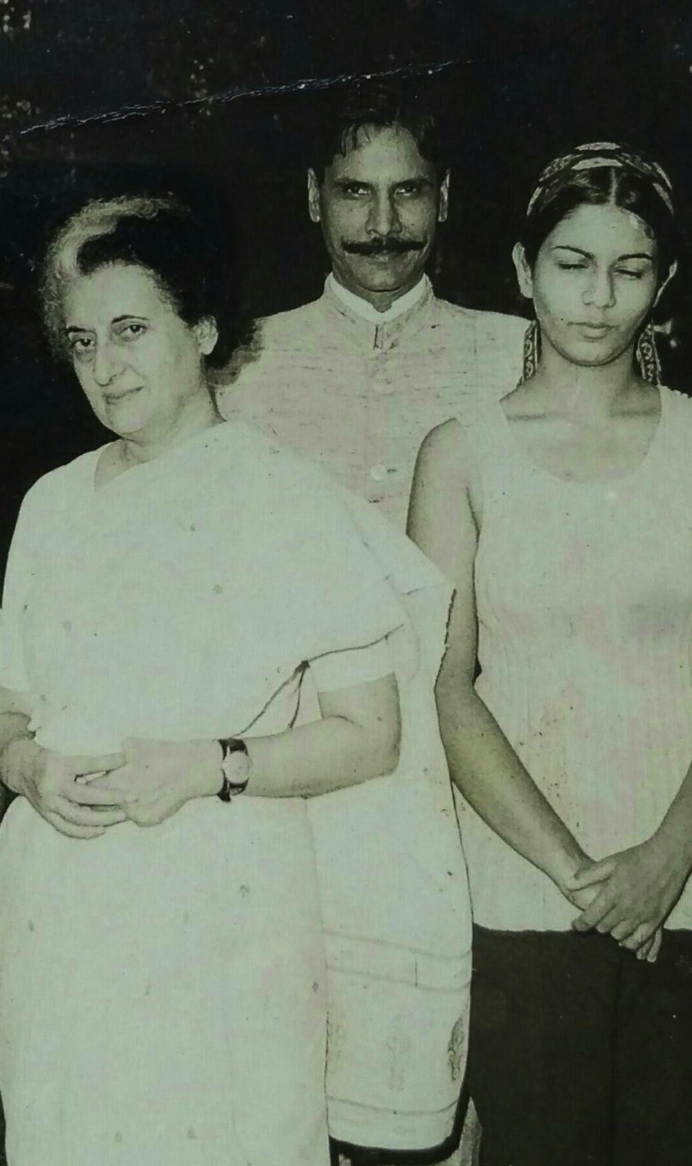 Indira Gandhi, KC, and daughter Geeta