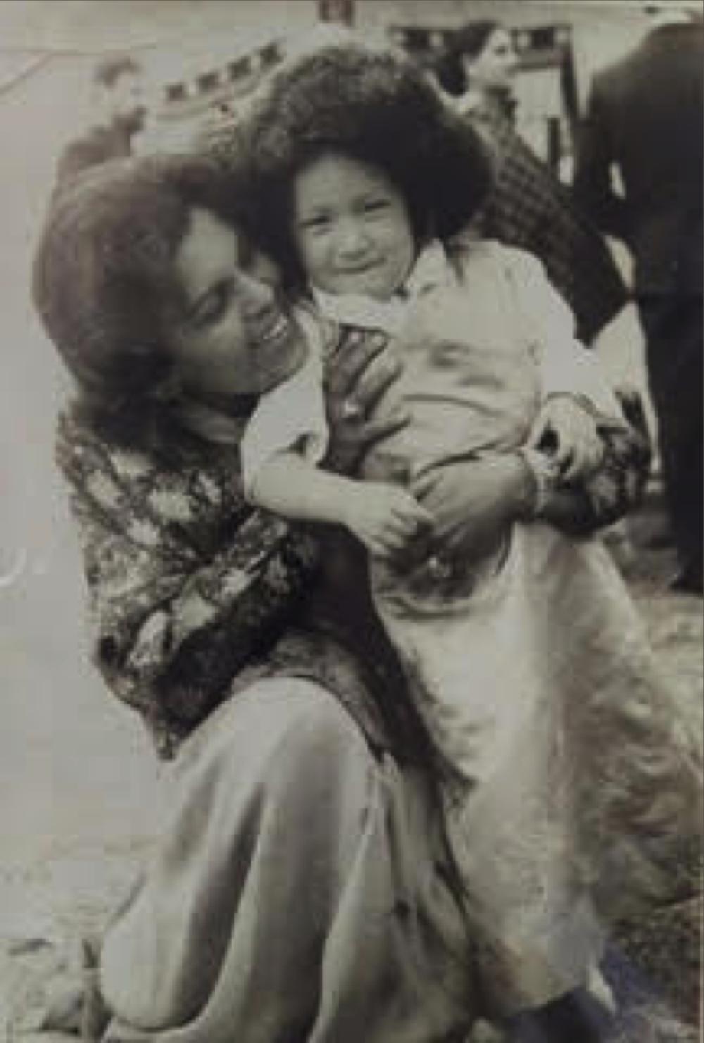 Sudha and baby Hope, c. 1965