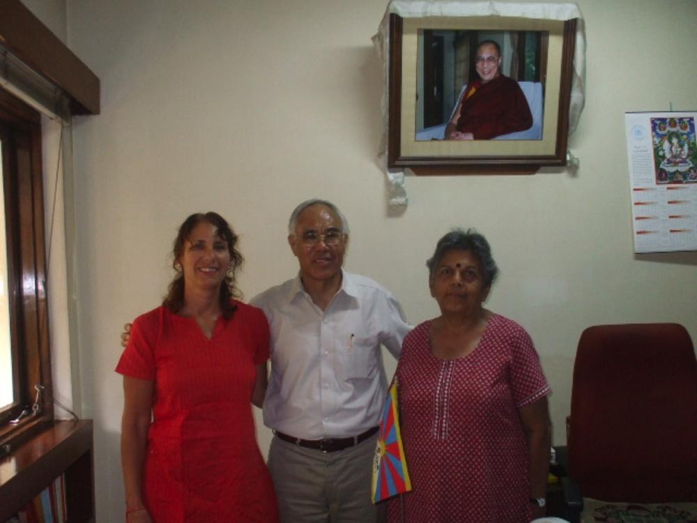 Sudha and Susan, with the Representative of the Dalai Lama, Dharmsala, 2005