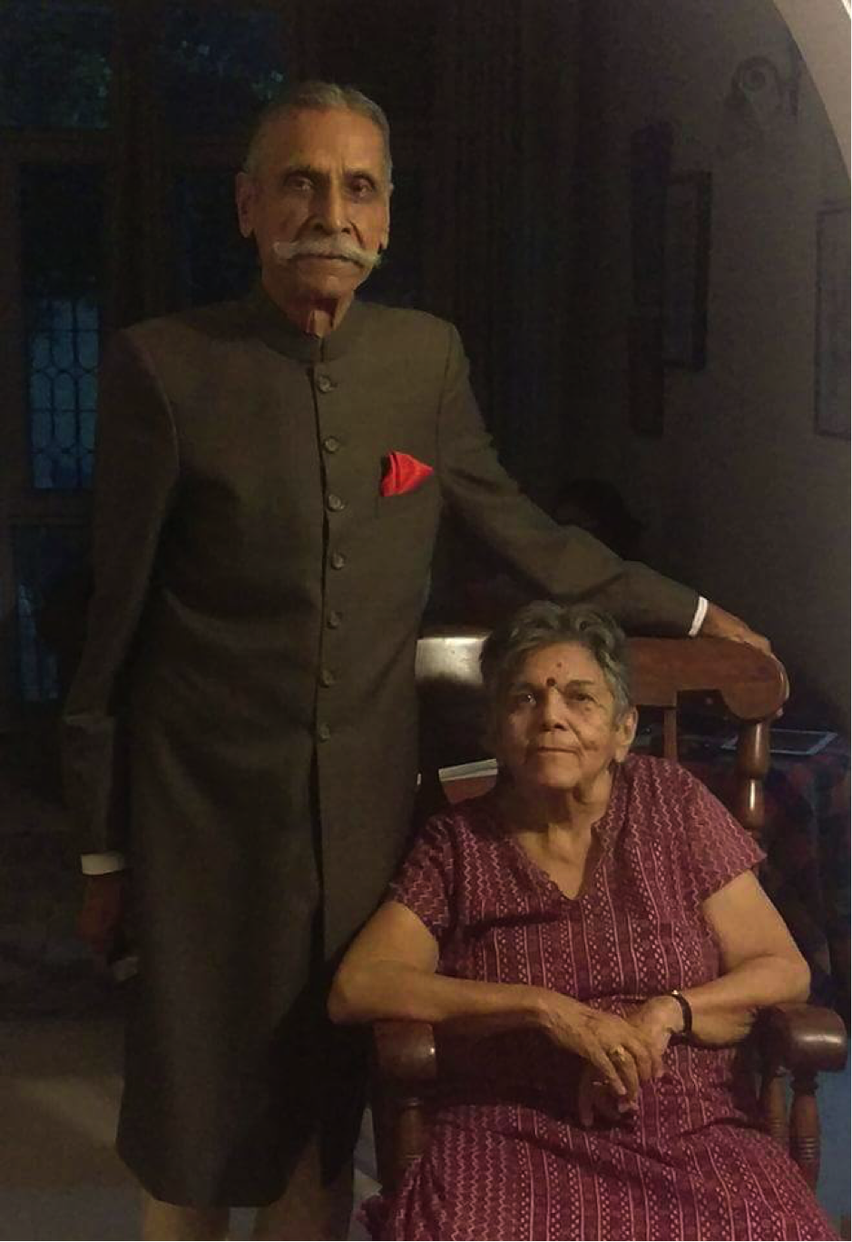 KC & Sudha, last year at KC's 90th birthday,New Delhi, 2018