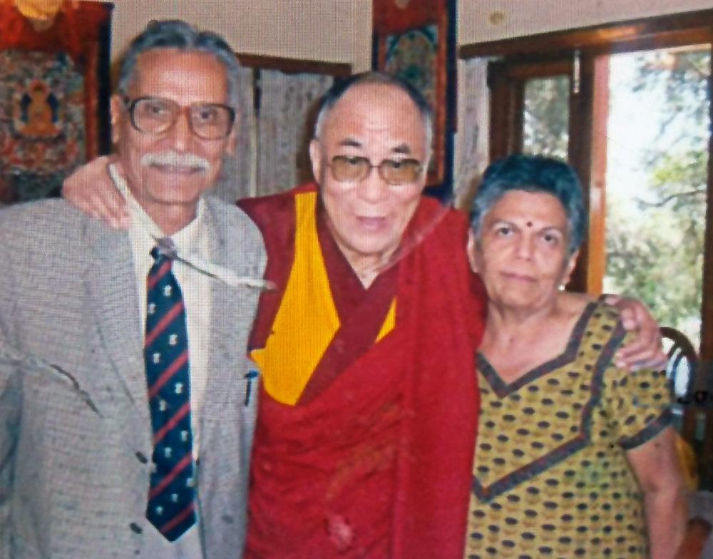 KC, Sudha, and His Holiness, Dharmsala, 2005