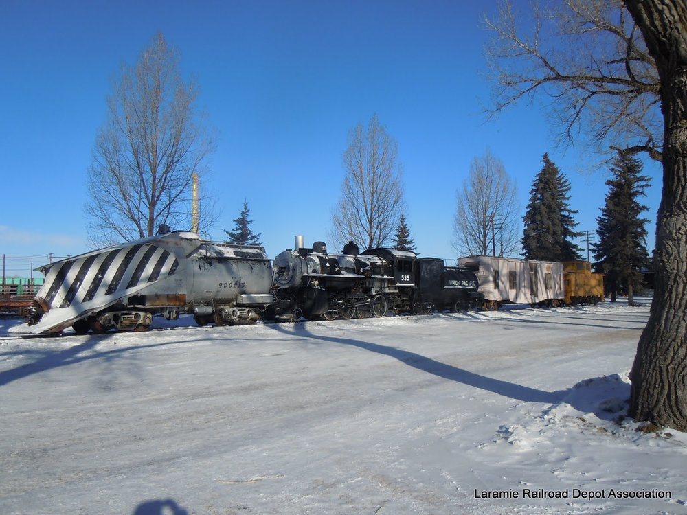 Railroad Heritage Park in downtown Laramie, Wyoming