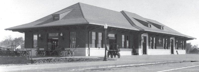 Laramie Union Pacific Depot, ca. 1924 - H. Svenson Collection, American Heritage Center