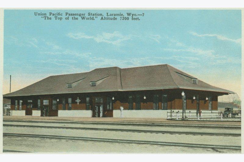 Postcard of the Depot, ca. 1924