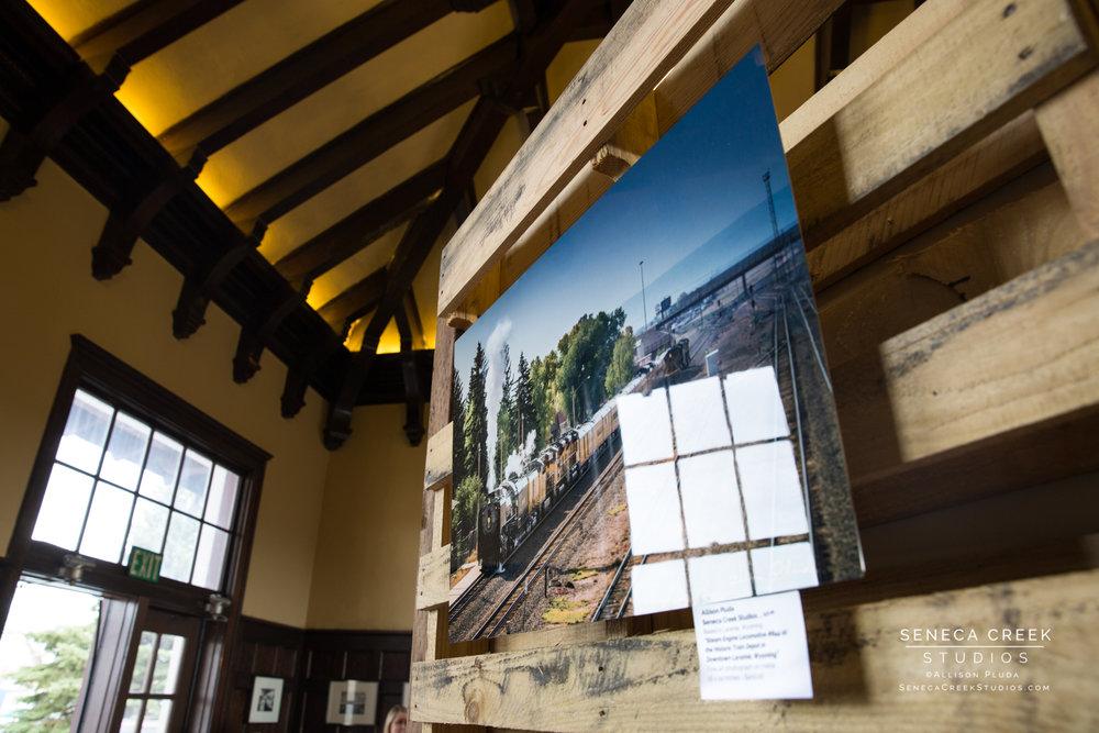 Fine Art Metal Print and Train Photograph by Seneca Creek Studios