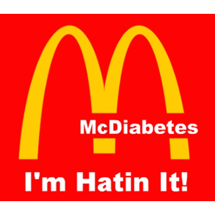 Countermarketing image developed by student in the the Youth Food Educators Program targeting McDonalds.