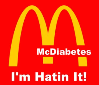 This countermarketing image was developed by student in the Youth Food Educators Program targeting McDonalds.