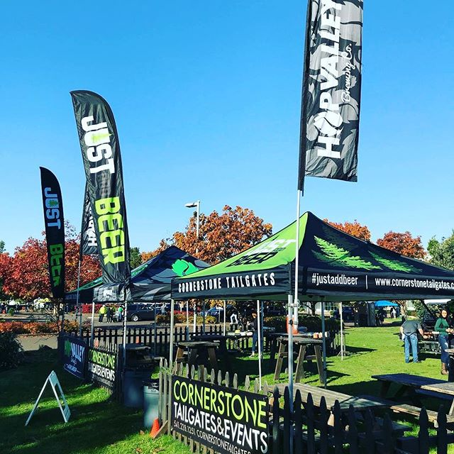 It's that time again! Our annual kick off tailgate of the year! Come join us for some good old fashioned tailgating to kick off the 2018 Duck Football season. We will have some delicious beverages on tap provided by our friends @hopvalleybrewing and please feel free to bring some food and beverages of your choice as well. Kicking it off 1-5 pm! #justaddbeer #cornerstonetailgates #tailgateparty #scoducks