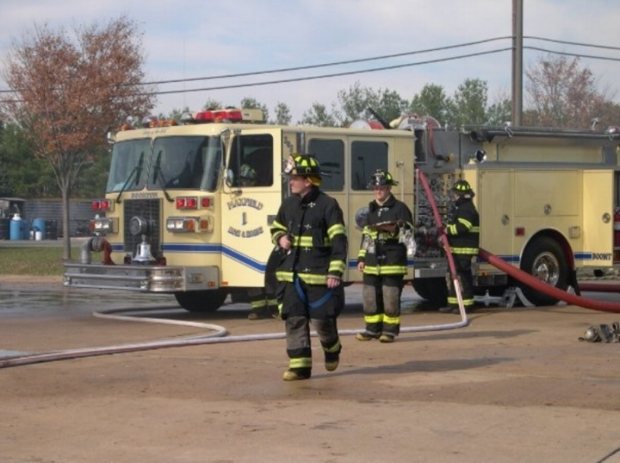 Drill at Middlesex Academy as an officer