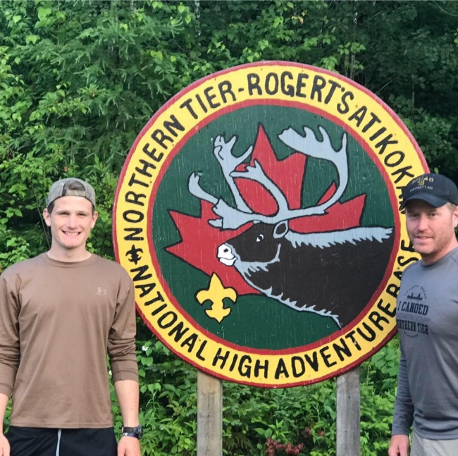 Northern Tier Canada with my son Ryan