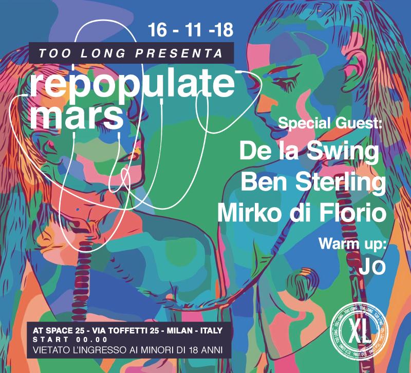 Tickets - Too Long25Milan, Italy20139Lineup:De La SwingBen SterlingMirko Di Florio