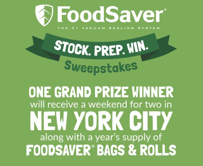 Food Saver Stock Prep Win Sweepstakes