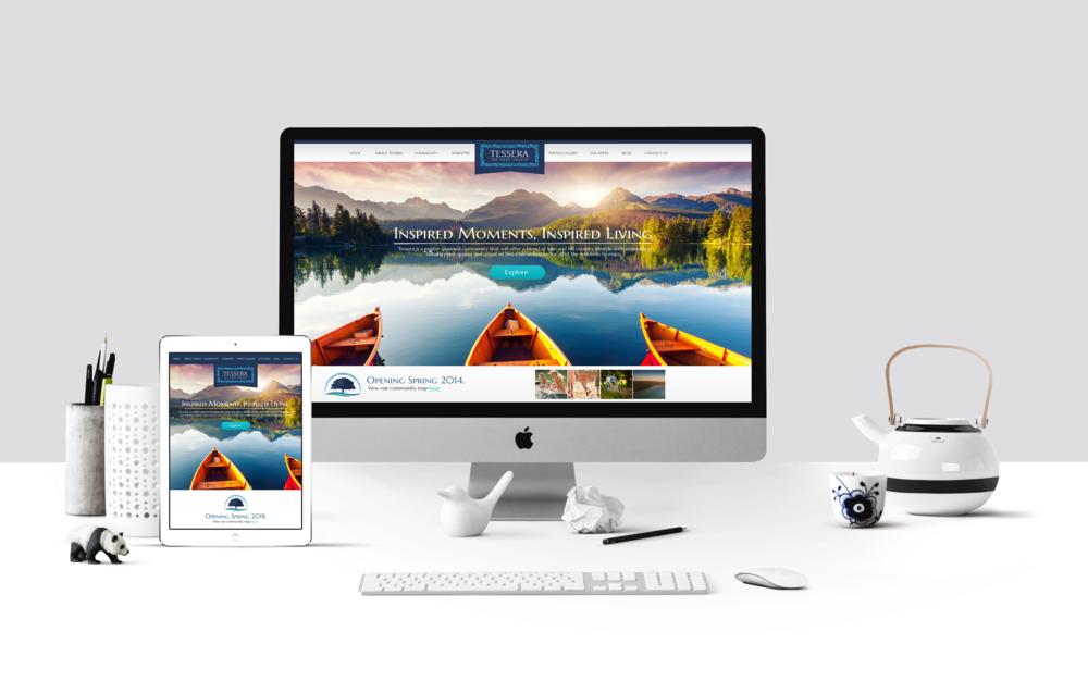 Tessera - Desktop, Tablet & Phone Template Designs