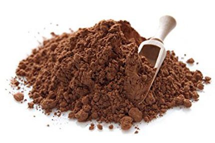 Cacao Powder - High source of flavonoids and antioxidants. Available as bulk 25 LBs and for Private Label with customized packaging.