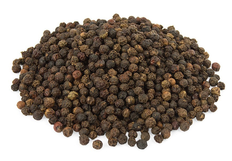 Black Pepper Whole - Black Pepper is considered to be the king of all spices because it is used almost every cuisine in the world. Peppers have been in use for centuries for their anti-inflammatory, carminative, anti-flatulent properties. Available in bulk & for private label with customized packaging.