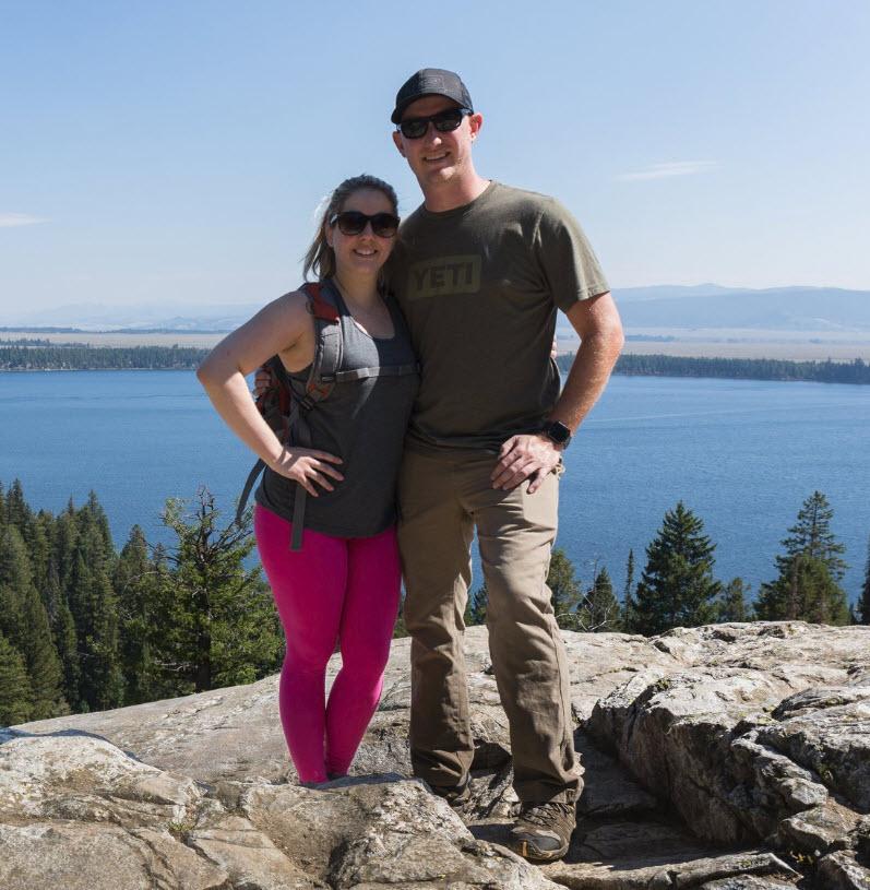 Megan and I overlooking Jenny Lake in Grand Teton National Park.