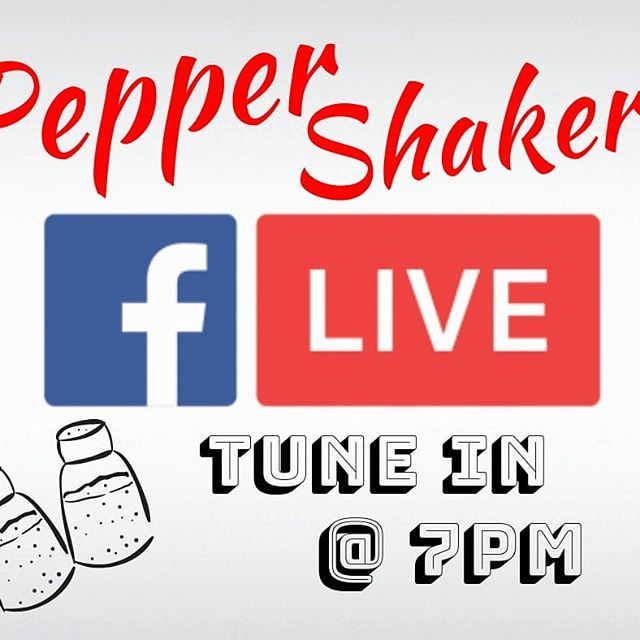 We are gonna be live again tonight! Tune in @7pm! On the Pepper Shakers Facebook page!