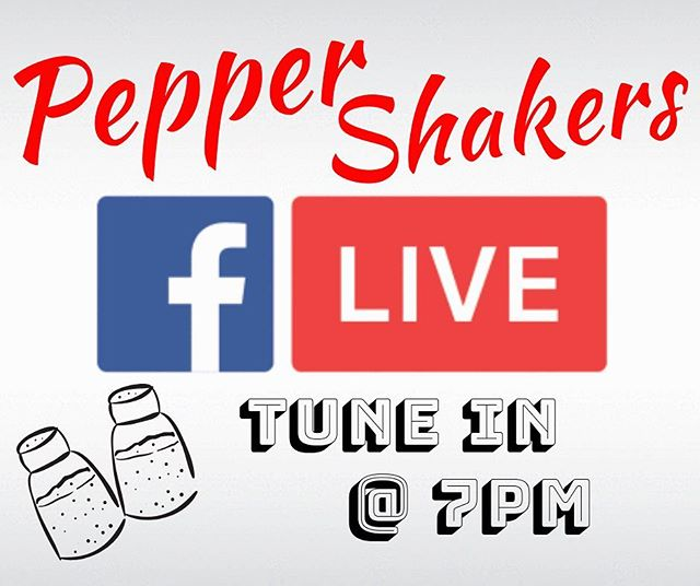 We are gonna be live again tonight! Tune in @7pm! On the Pepper Shakers Facebook page! • • • #band #music #live #facebook #facebooklive #livemusic #rock #blues #rocknroll #pepper #peppershakers #nosalthere #newlogo